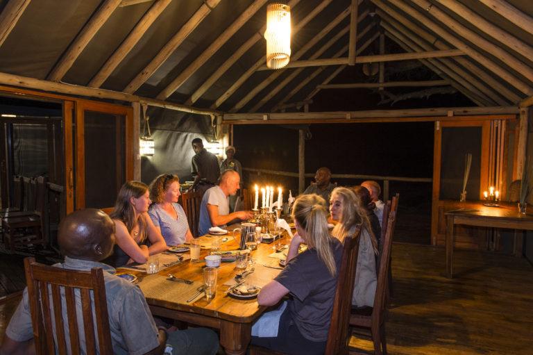 Okavango Horse Safari dinner atMokolowane camp