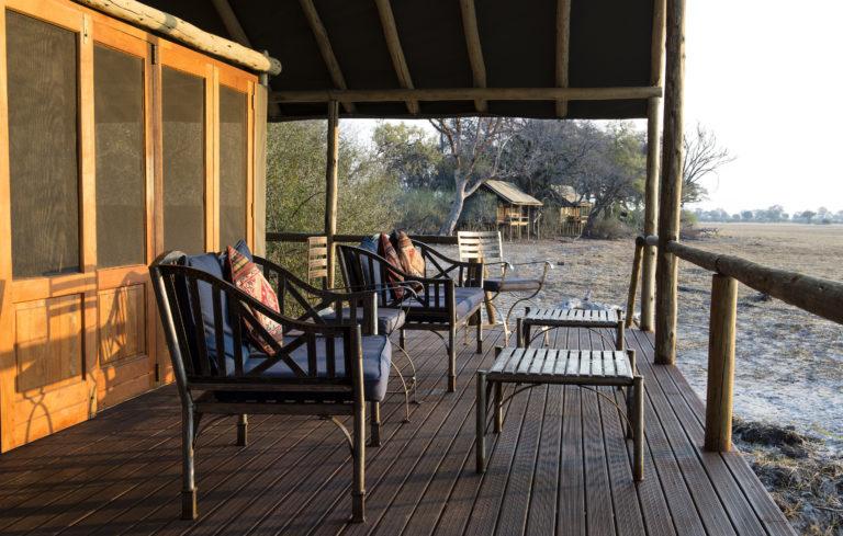 Okavango Horse Safari Mokolowane camp guest tent veranda