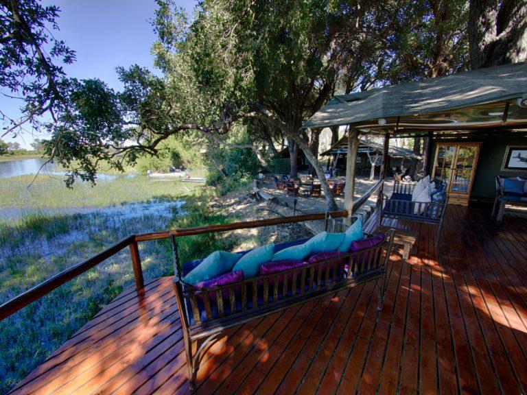 Main area ay Kujana Camp with Okavango Horse Safaris