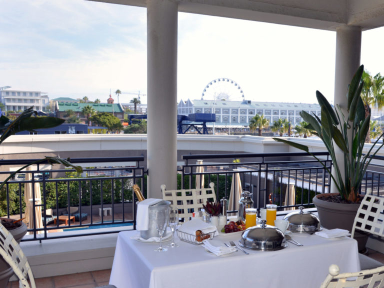 The one bedroom suite terrace at Cape Grace Hotel
