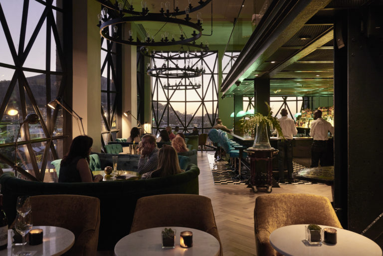 Interior architectural design of the Silo Hotel
