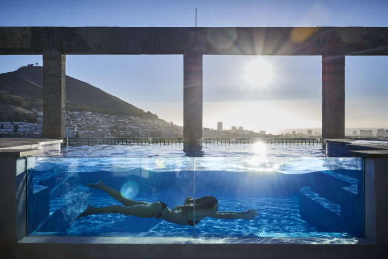The Silo Hotel swimming pool is exceptional