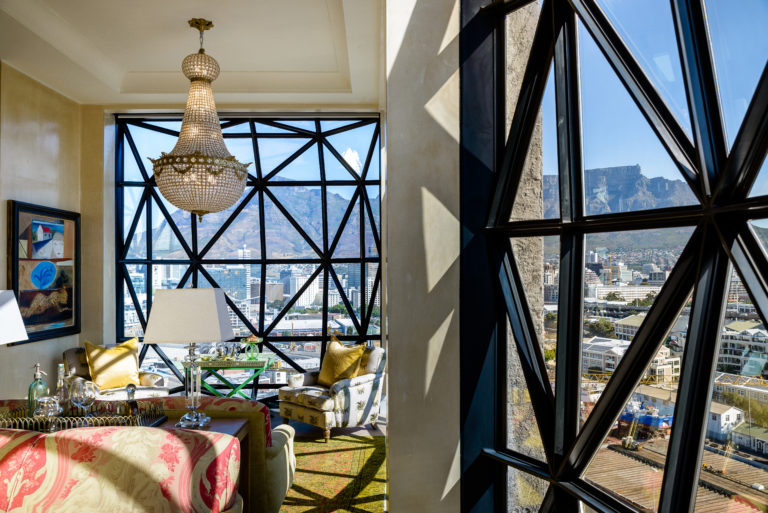 The Silo penthouse lounge with Cape Town view