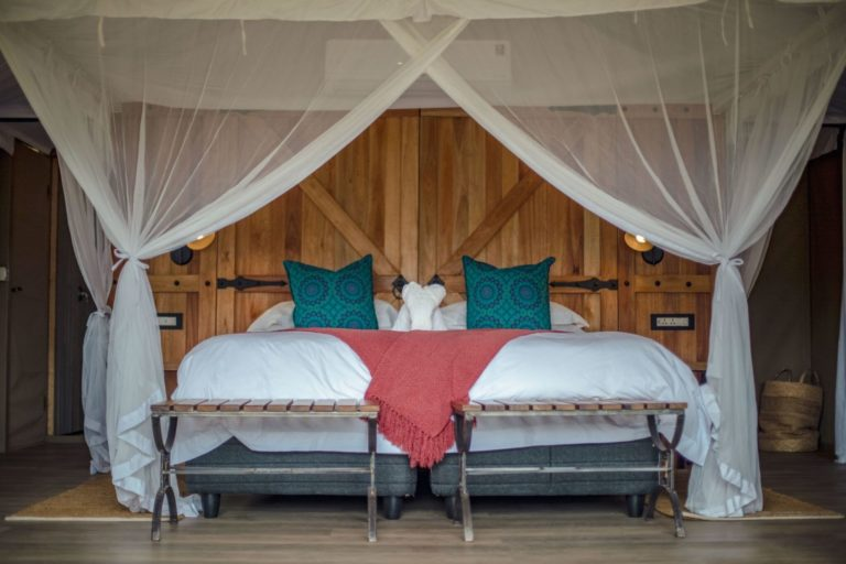 The guest room layout at The Wallow