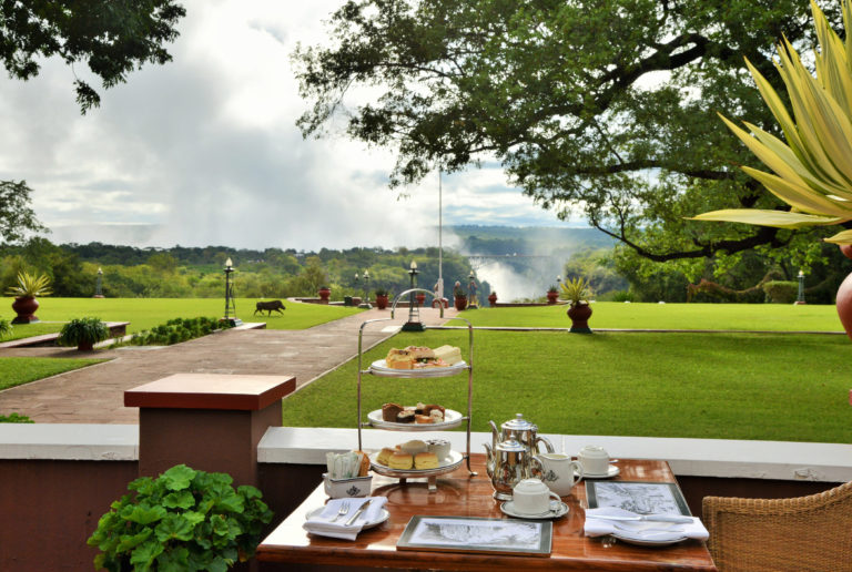 Victoria Falls Hotels' famous high tea is served mid afternoon