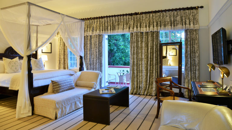 Victoria Falls' honeymoon suites boast four poster beds and extensive balconies