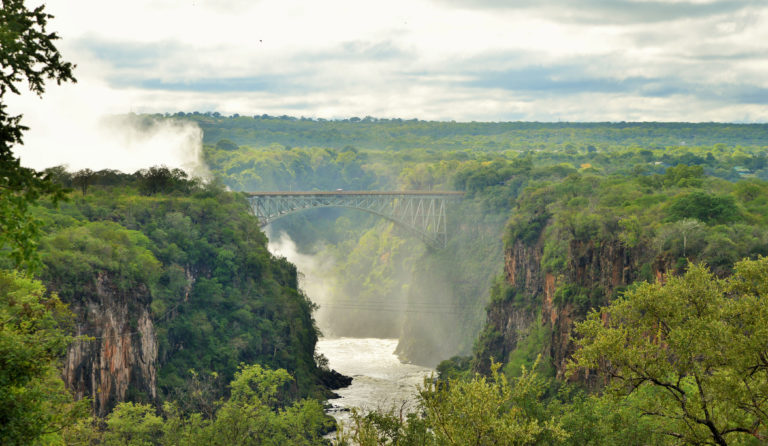 Victoria Falls Hotel view of falls from hotel