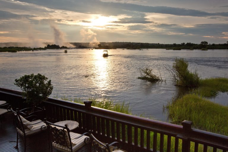 Exquisite water view from the sundeck at the Royal Livingstone