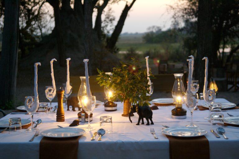 African Horse Back Safaris bush dinner