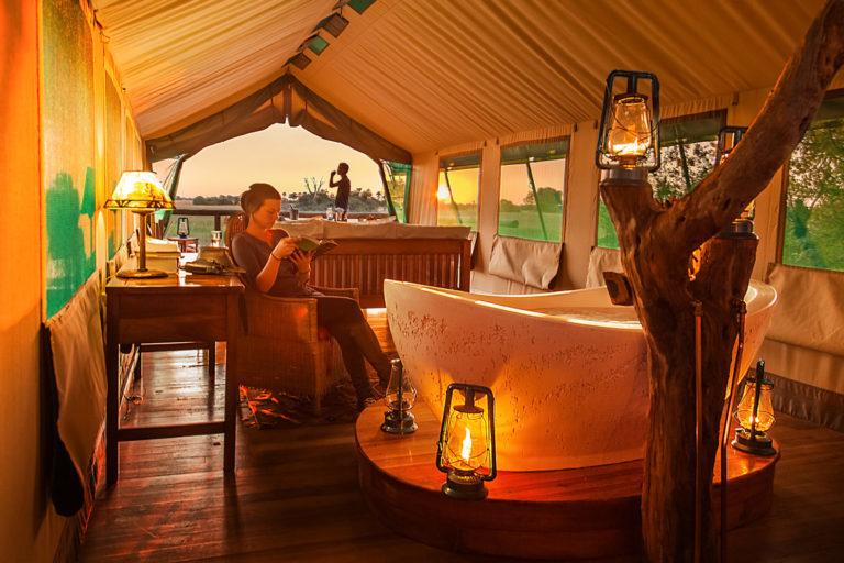 Honeymoon suite at Macatoo Luxury Bush Camp