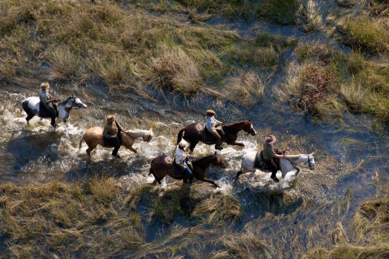African Horse Back Safaris aerial view of riders