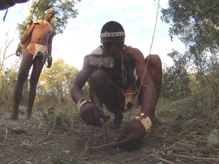 Guests enjoy learning about bushman survival skills at Bushman Plains Camp