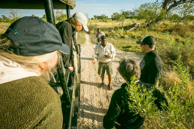 Bushman Plains Camp guests participate in interactive game drives