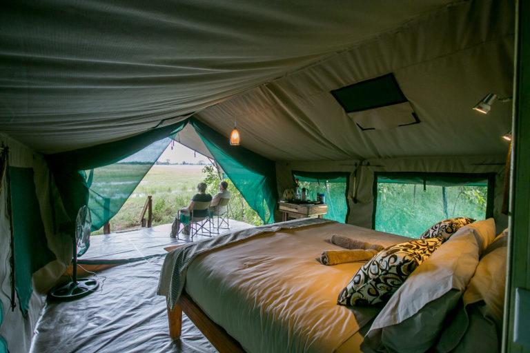 Bushmans Plains Camp tent view into wilderness