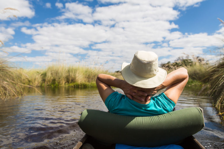 Guests enjoy idyllic ventures onto Delta waters with Bushways safaris mokoro excursions