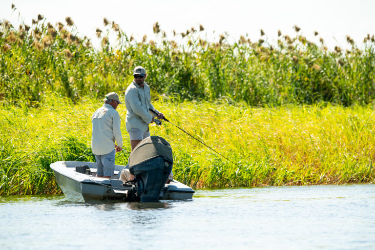 Chobe Princess' tender boats take out keen fisherman to catch tiger fish