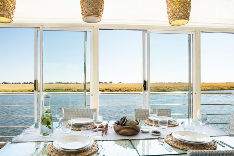 Fine dining with a view aboard the Chobe Princess