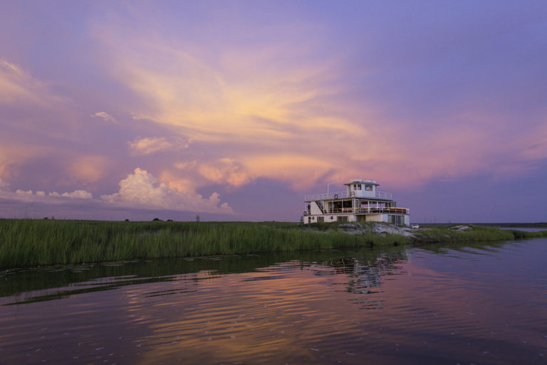 Dreamy sunset skies as seen from aboard the Chobe Princess