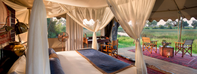 Guest tent with a view at Duba Explorers Camp