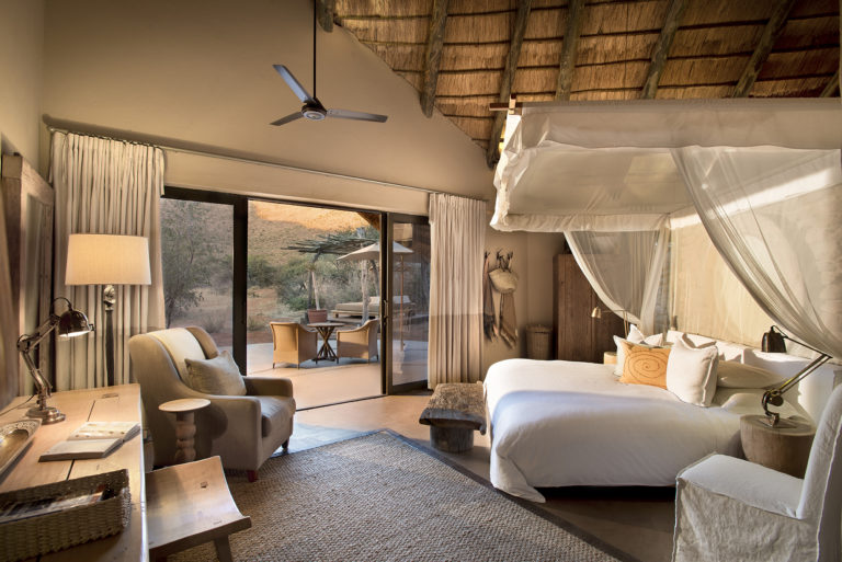 Elegant room suites at Tarkuni with incredible views