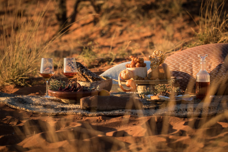 Kalahari Picnic experience at Tswalu