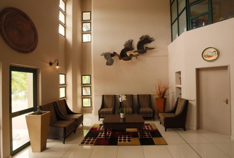 Reception area at Maun Lodge