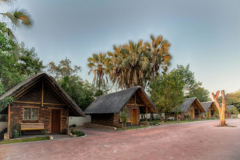 Maun Lodge has 12 thatched chalets