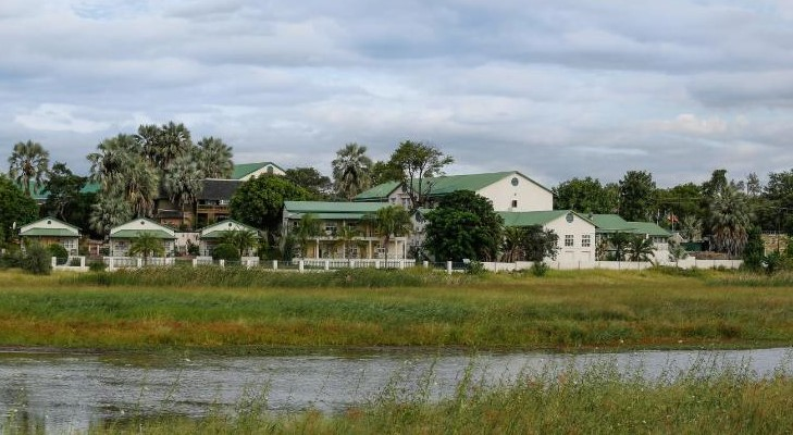 Maun Lodge view from the river