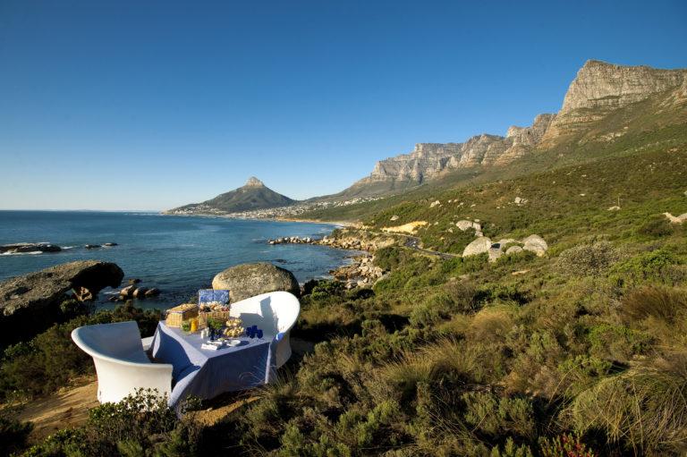 Mountain picnic arranged by Twelve Apostles
