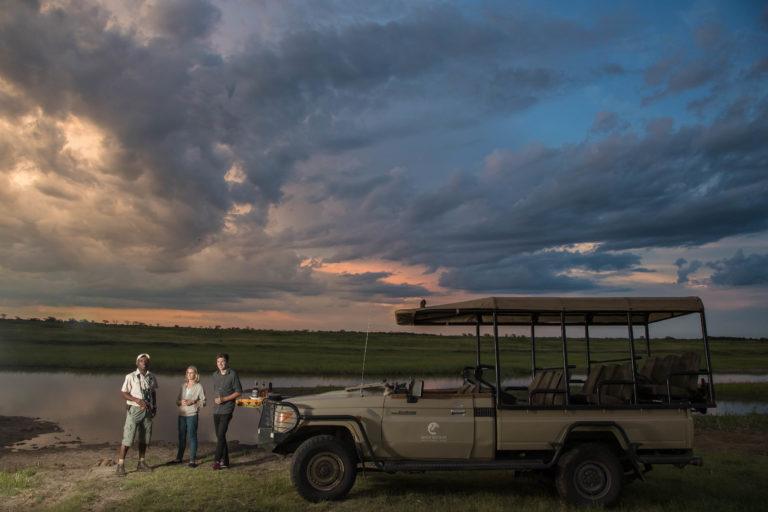 Game drive scenic sundowners from Muchenje Safari Camp