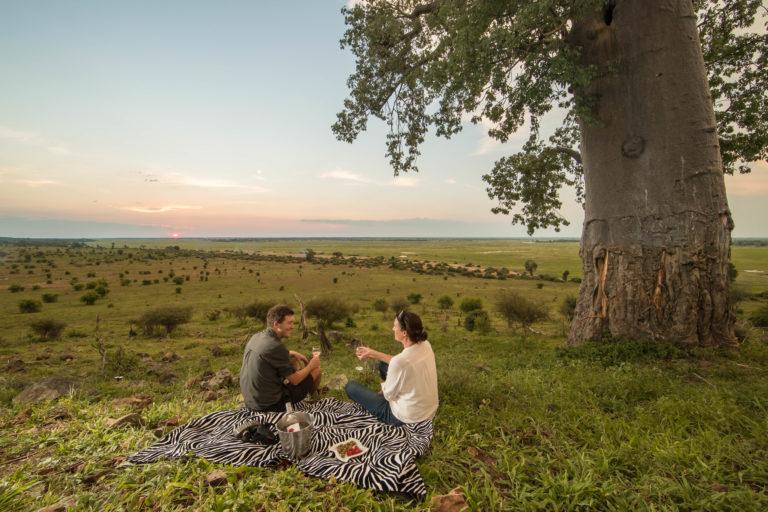 A romantic sundowner picnic courtesy of Muchenje Safari Camp