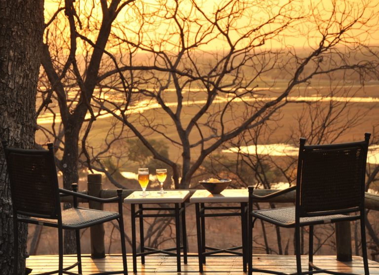 Sunset over the Chobe Plains from Muchenje Safari Lodge