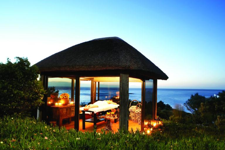 Twelve Apostles luxurious outdoor massage gazebos with ocean view