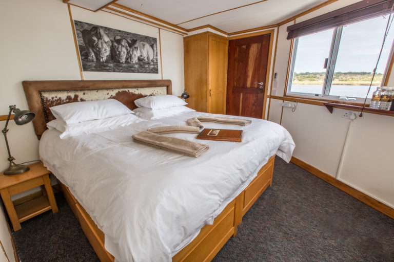 Guests are treated to stylish comfortable accommodation on board the Pangolin Voyager