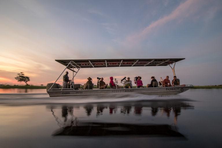 An idyllic boating safari on the Chobe River with Pangolin Photographic Safaris