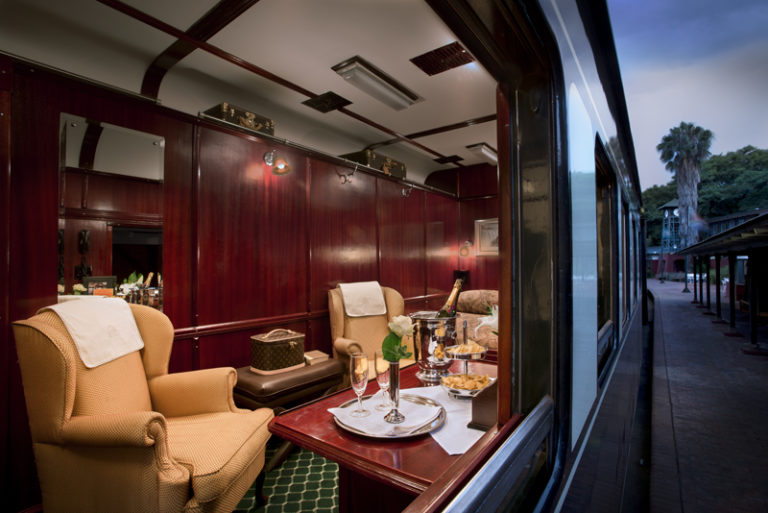 Rovos Rail Royal suite view outside