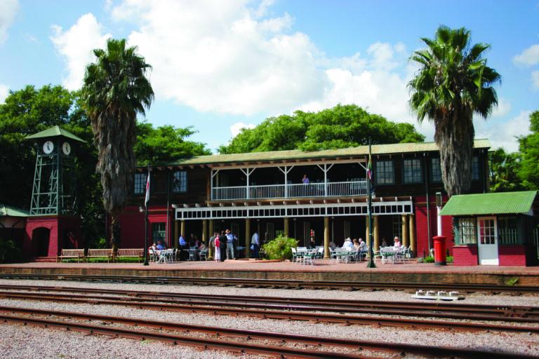 The private Rovos Rail station at Capital Park Pretoria