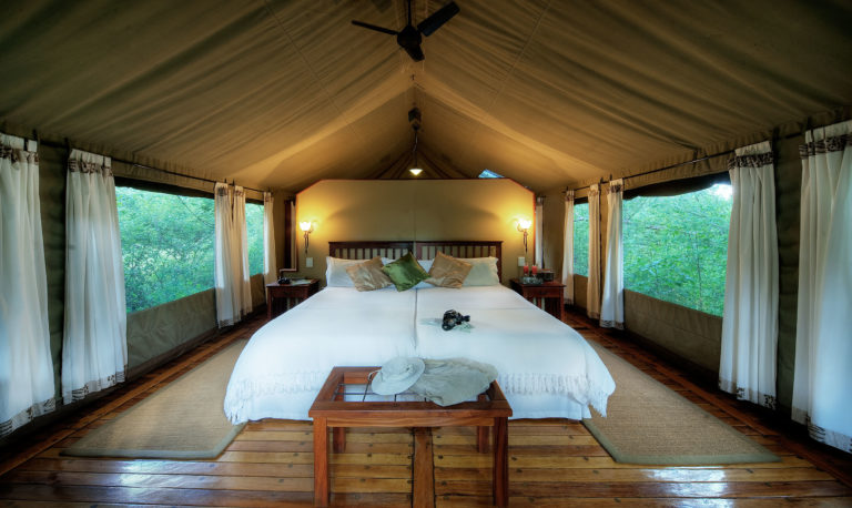 Royal Tree Lodge guest tent interior