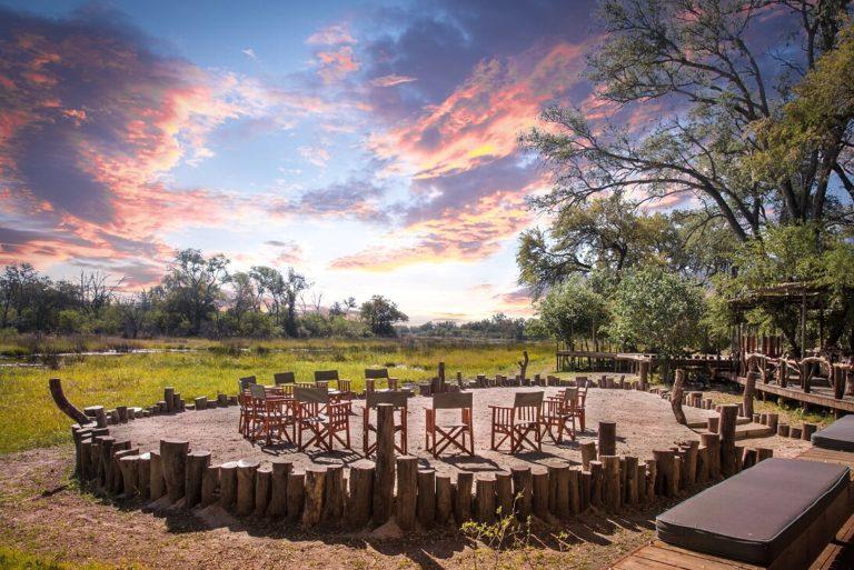 Saguni Safari Lodge scenic firepit and central seating