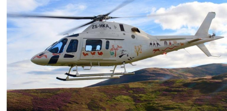 Scenic helicopter excursions are on offer at Tswalu lodge