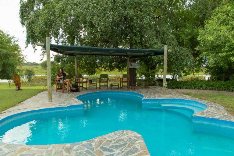 Thamalakane River Lodge swimming pool