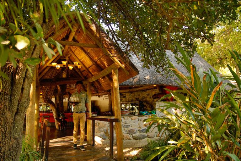 Thamalakane River Lodge entrance