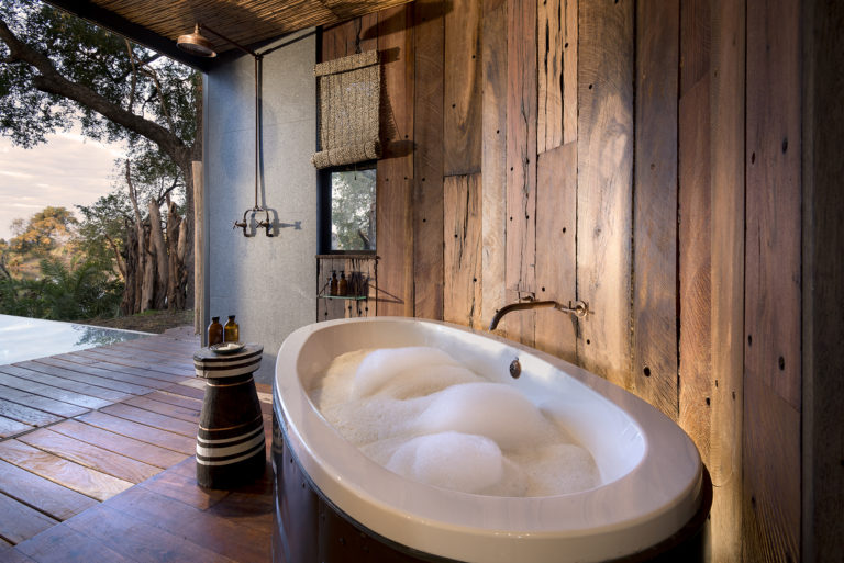 Indulge in an outdoor star bath at Thorntree River Lodge