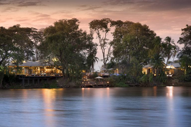 Thorntree River Lodge as viewed from the Mighty Zambezi River