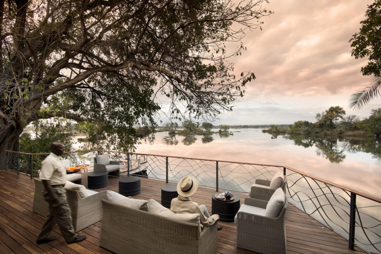 Thorntree River Lodge relaxing on the main deck