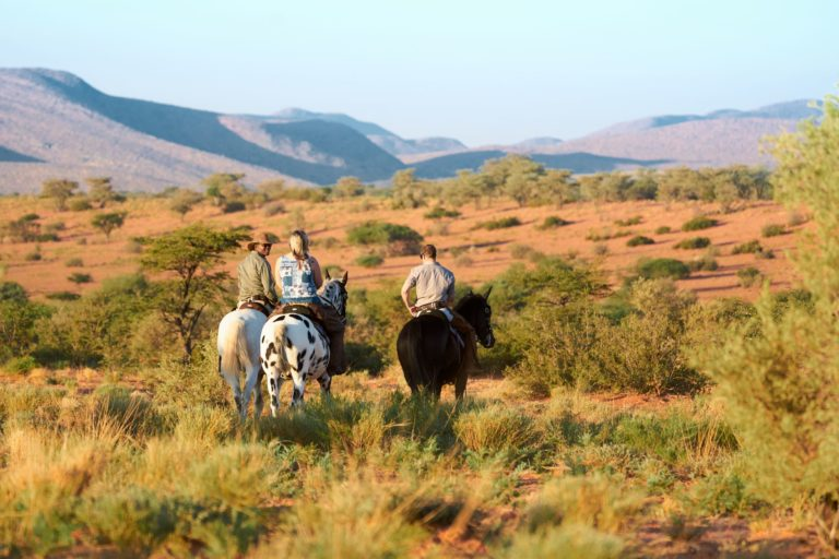 Tswalu Horse riding trails provide much excitement for Tarkuni guests
