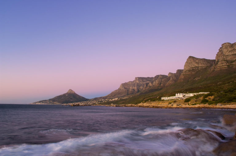 The secluded Twelve Apostles Hotel from a distance