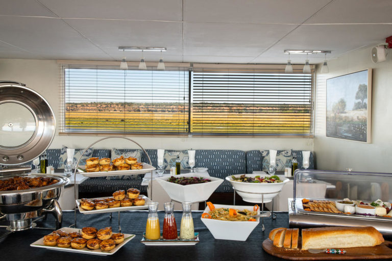 Delectable high tea served on the Zambezi Queen