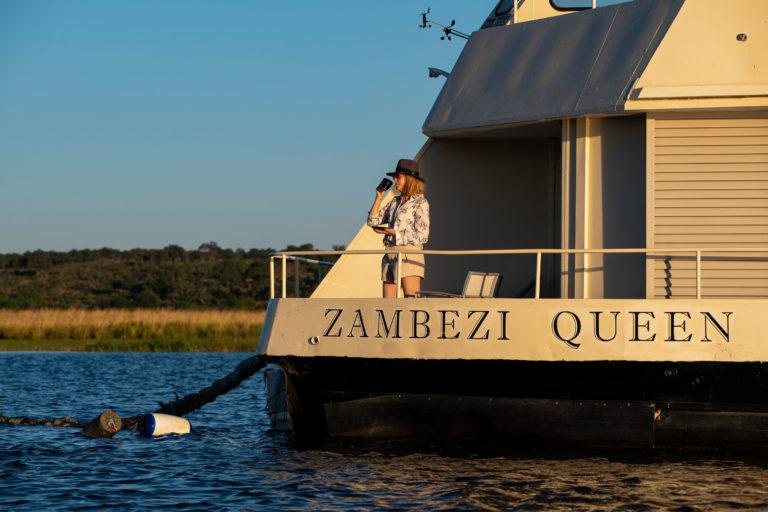 Zambezi Queen boat exterior