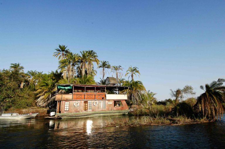 Full view of the Kubu Queen Houseboat